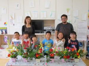 講師の花屋さんと記念撮影