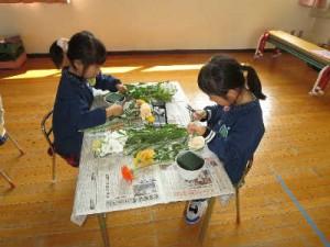 子ども達の作業風景