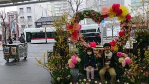 LRT・次世代型市内電車とのツーショット